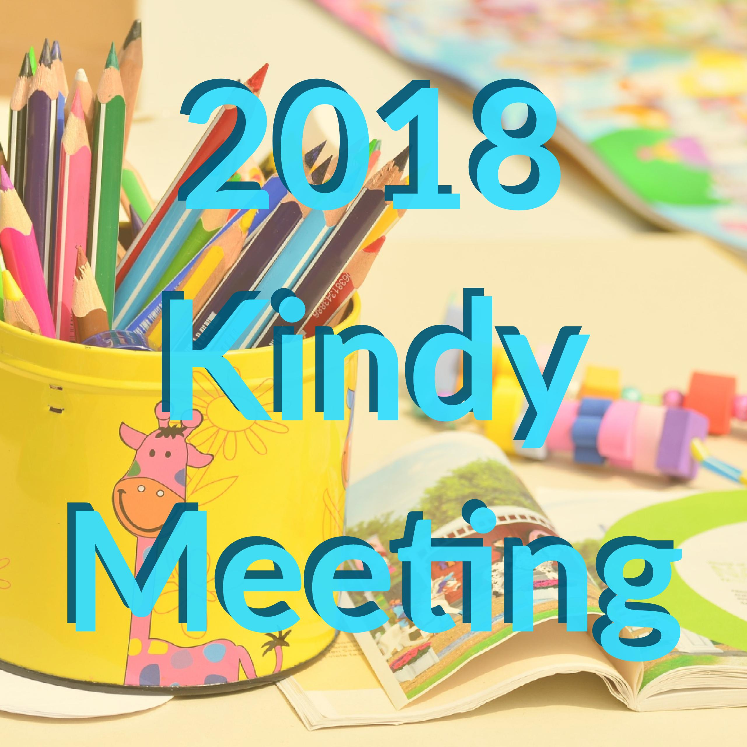 2018 Kindy Meeting