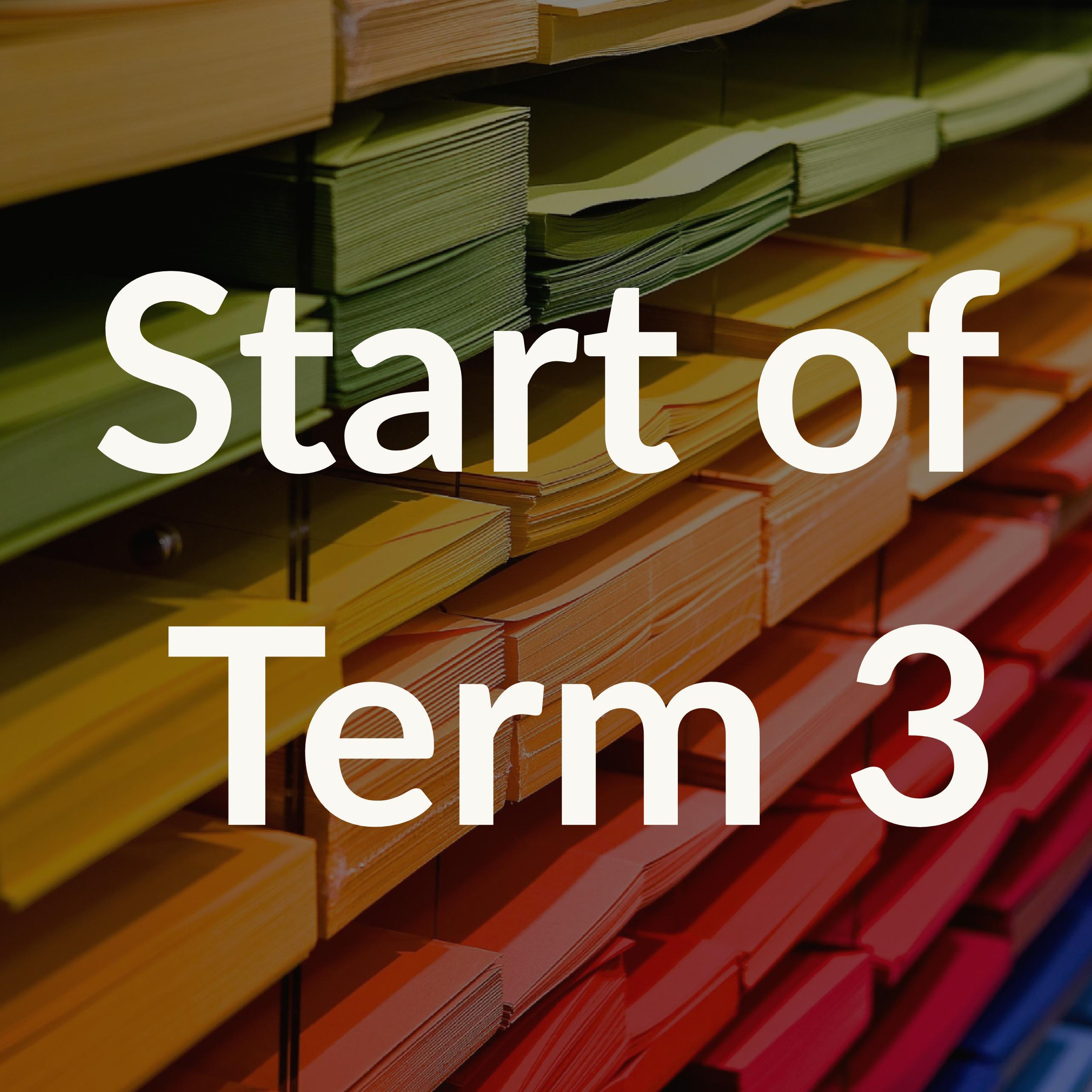 Start of Term 3
